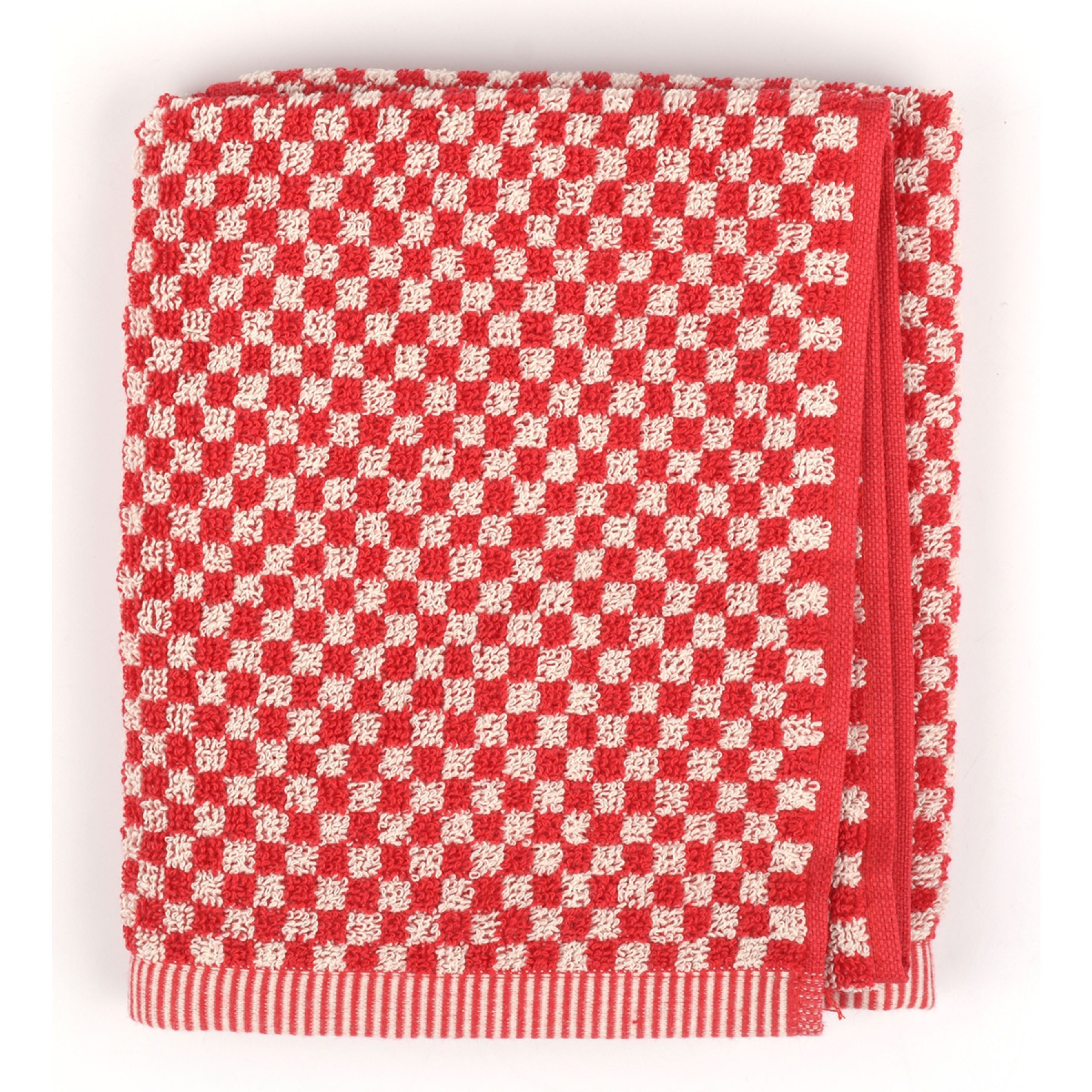 Bunzlau Castle Keukendoek Small Check Red