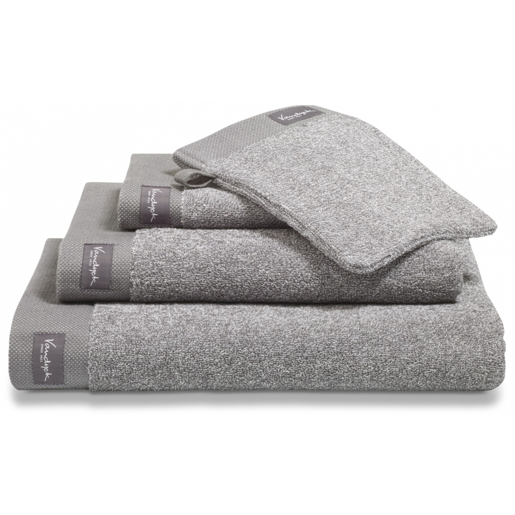 Vandyck Washand Home Mouliné Mole Grey