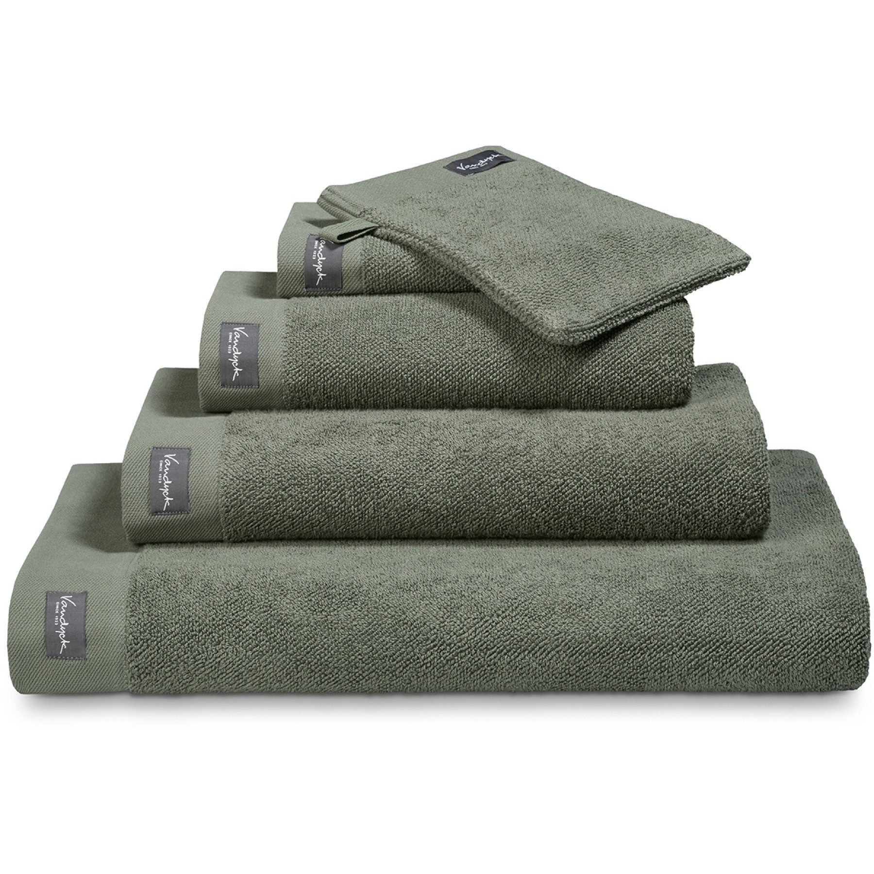 Vandyck Badlaken Uni Home Collection Olive