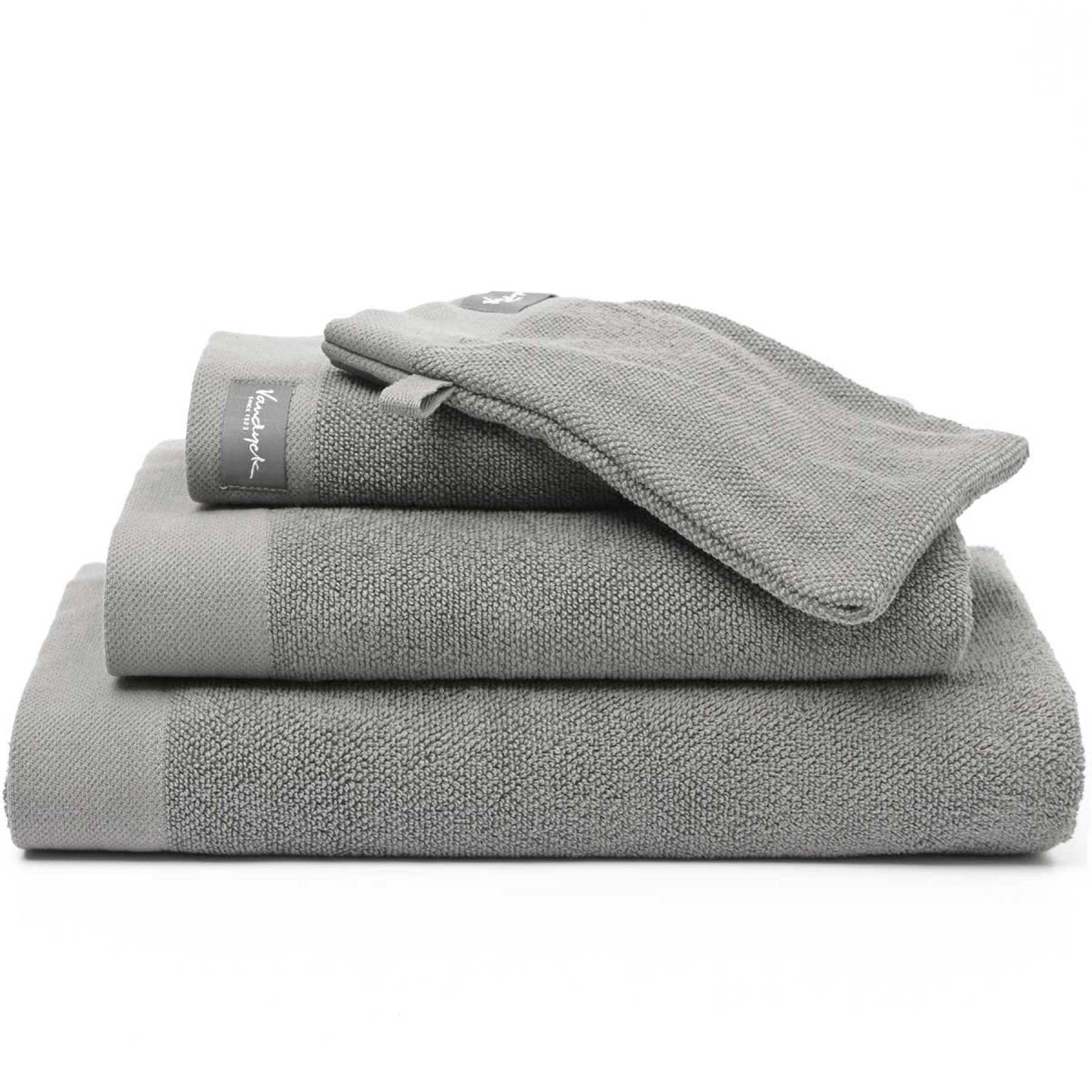 Vandyck Handdoek Uni Home Collection Mole Grey