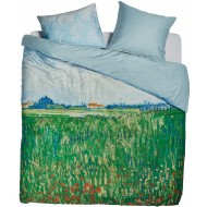 Beddinghouse x Van Gogh Museum Dekbedovertrek Field With Poppies Green
