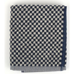 Bunzlau Castle Keukendoek Small Check Dark Blue